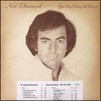 Neil Diamond - You DOn't Bring Me Flowers - White Label Promo